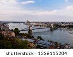 budapest chain bridge and... | Shutterstock . vector #1236115204