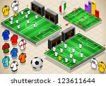 soccer info graphic stadium...   Shutterstock . vector #123611644