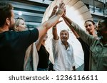 production crew ready for a... | Shutterstock . vector #1236116611
