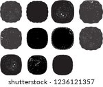 grunge post stamps collection ... | Shutterstock .eps vector #1236121357