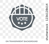 political american elections... | Shutterstock .eps vector #1236128614
