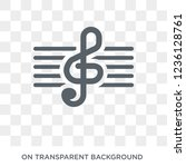 treble clef icon. treble clef... | Shutterstock .eps vector #1236128761