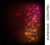 shiny hearts light valentine's... | Shutterstock .eps vector #123612961