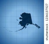 map of alaska | Shutterstock .eps vector #1236137527