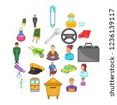 maintain icons set. cartoon set ... | Shutterstock . vector #1236139117