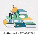 vector cartoon illustration of... | Shutterstock .eps vector #1236140971