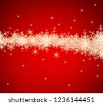 2d illustration. snowflakes... | Shutterstock . vector #1236144451
