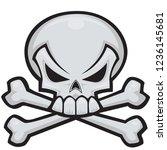pirate skull bones  | Shutterstock .eps vector #1236145681