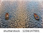 Fishermen In The Boats In The...