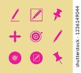 sharp icon. sharp vector icons... | Shutterstock .eps vector #1236149044