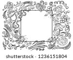 natural  organic food. set... | Shutterstock .eps vector #1236151804