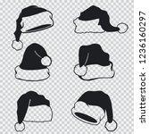 santa claus hats black... | Shutterstock .eps vector #1236160297