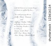 wedding card or invitation with ... | Shutterstock .eps vector #123616114