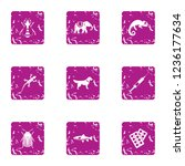 useful animal icons set. grunge ...   Shutterstock . vector #1236177634