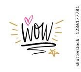 vector wow text  inscription... | Shutterstock .eps vector #1236177781