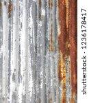 texture  old rusty zinc  | Shutterstock . vector #1236178417