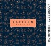 seamless pattern flowers... | Shutterstock .eps vector #1236180007