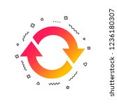 rotation icon. repeat symbol.... | Shutterstock .eps vector #1236180307