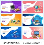 astronomy and coding  school... | Shutterstock .eps vector #1236188524