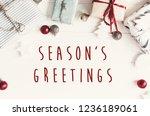 Season's greetings text on...