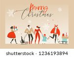 hand drawn vector abstract fun... | Shutterstock .eps vector #1236193894