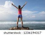 freedom woman outstretched arms ... | Shutterstock . vector #1236194317