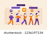 vector illustration in flat... | Shutterstock .eps vector #1236197134