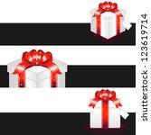 gift box shopping   Shutterstock .eps vector #123619714