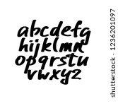 alphabet letters.black... | Shutterstock .eps vector #1236201097