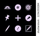 sharp icon. sharp vector icons... | Shutterstock .eps vector #1236203284