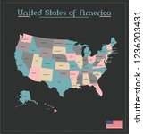 united states of america | Shutterstock .eps vector #1236203431