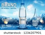 pure sparkling water ad ... | Shutterstock .eps vector #1236207901