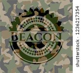beacon camouflaged emblem | Shutterstock .eps vector #1236217354