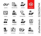 medicine and health symbols | Shutterstock .eps vector #1236226744