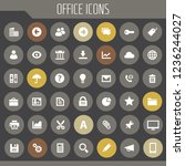 big ui  ux and office icon set