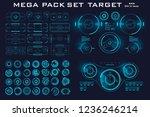 mega pack set target. hud...   Shutterstock .eps vector #1236246214