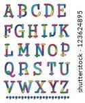 sketch alphabet | Shutterstock .eps vector #123624895