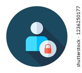 user login or authenticate icon ... | Shutterstock .eps vector #1236250177