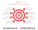 target with eight arrows with... | Shutterstock .eps vector #1236260164