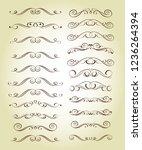 set ornamental rule lines in... | Shutterstock .eps vector #1236264394