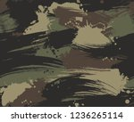 seamless brush stroke... | Shutterstock .eps vector #1236265114