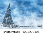 tree with merry christmas in... | Shutterstock . vector #1236270121
