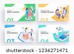 presentation slide templates or ... | Shutterstock .eps vector #1236271471