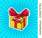 a box with a gift. illustration ... | Shutterstock .eps vector #1236272761