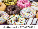 assorted donuts with different... | Shutterstock . vector #1236274891