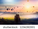 cappadocia and balloons in the... | Shutterstock . vector #1236282001