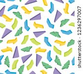 seamless pattern with colorful...   Shutterstock .eps vector #1236297007