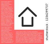house vector icon eps10