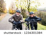 active senior couple with...   Shutterstock . vector #1236301384