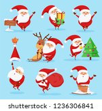 christmas cartoon santa claus... | Shutterstock .eps vector #1236306841